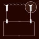 Tyčový závěsný systém (kulatina Ø 6mm)