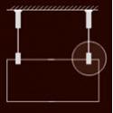 Lankový závěsný systém (nerez. lanko Ø 1,5 nebo Ø 2 mm)